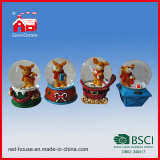 Decorative Unique Custom Handmade Snow Globes Christmas Deer Inside Home Decoration