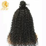 完全なレースの人間の毛髪のかつら150%の密度のPrepluckedのレースの前部かつら7Aは黒人女性のための深い巻き毛のレースの前部人間の毛髪のかつらを緩める