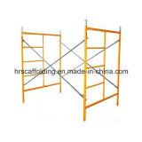 Weg durch das Rahmen-Baugerüst-Puder beschichtet