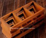 Caixas de madeira do vinho gama alta dos frascos do clássico dois
