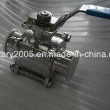 Válvula de esfera sanitária do vapor do aço inoxidável com atuador pneumático