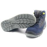 スエードの革最高切口PUの注入の機密保護の靴Ss028
