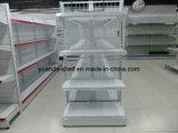 金網のスーパーマーケットの商品の表示棚