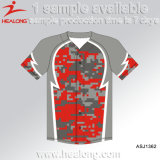 Camisola barata do basebol das camisas do Sublimation do Patten de Camo