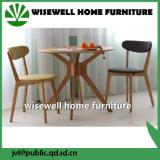 Mesa de móveis de cozinha de carvalho maciço e 2 cadeiras