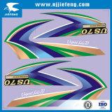 De matrijs sneed het Transparante Witte Overdrukplaatje van de Sticker van de Auto van de Motorfiets van pvc