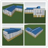 Construção de aço pre projetada para o armazém, oficina, edifício de aço