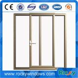 Окно утесистой конкурентоспособной цены алюминиевое сползая, дешевое сползая окно и дверь