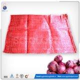 50*80cm roter Polyineinander greifen-Beutel für verpackenzwiebeln und Kartoffeln