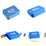Кабель коробки USB портативного Retractable Micro поручая