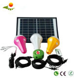 Jogo novo da iluminação do sistema Home de potência solar do bulbo solar do brilho elevado 5W com cabo do USB