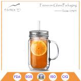 飲む目的のためのロゴの印刷を用いるガラスマグ