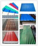 Folha de aço ondulada galvanizada revestida cor Pre-Painted da telhadura (0.13--0.8mm)