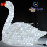 Luz acrílica da decoração da associação do repouso da cisne do diodo emissor de luz