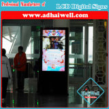 Пол 55 дюймов стоя экран касания индикации рекламировать экрана цифров LCD