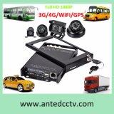 3G/4G/GPS/WiFi 4CH Ableiter-Karte bewegliches DVR für Fahrzeug/Bus/Auto/LKW CCTV System