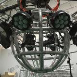алюминиевая ферменная конструкция освещения ферменной конструкции 6061-T6 для таможни D2.6m круглой изогнутой вращаясь и поворачивая DJ связывает с поднимаясь системой мотора