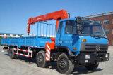 Grue droite de bras de camion de grue de boum de 10 tonnes à vendre