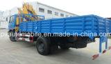 180HP camión del camión de 5 toneladas 6ton con el grúa 8t de XCMG grúa para la venta