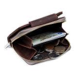 Porte-monnaie en cuir véritable Zimmer Style Style rétro avec support Cion