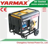 Groupe électrogène diesel simple refroidi par air de bâti ouvert de moteur diesel de cylindre de Yarmax Genset Ym8500ea