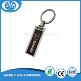 Подгонянный оптовой продажей пустой автомобиль металла Keychain с стикером печатание металла