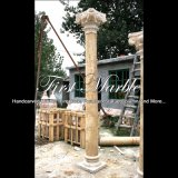 De gouden Kolom van de Travertijn voor Decoratie mcol-310 van het Huis