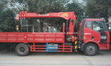 FAW5t 6t 160HP Ladung-LKW hing mit teleskopischem Kran-Preis ein