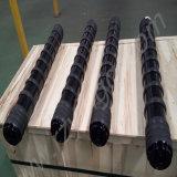 O rolo do impato do transporte com moldado cozinhado ou com anéis de borracha de borracha de um rolo mais tensor do rolo do disco do impato pesa o rolo de um rolo mais tensor para o transporte de correia do porto da mina