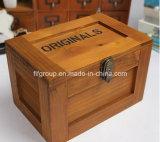カスタムサイズの旧式でシックなレトロの木の収納箱