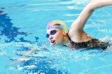 女性の短い髪の柔らかいシリコーンの帽子のための水泳帽は抗力を減らす