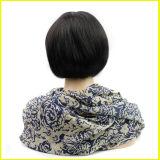 De 100% da forma do preto perucas européias do cabelo humano por muito tempo em linha reta
