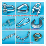 China, fabricante de las grapas de alambre galvanizado Aparejo de la cuerda