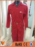 Tute rosse ignifughe del lavoro del cotone di sicurezza di fabbricazione