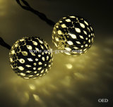 Secuencia ligera solar hueco de la lámpara LED de la bola LED de las luces de hadas del LED que sorprende de China