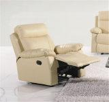 Sofá do couro genuíno da sala de visitas (C715)