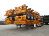 3 차축 40ton 해골 40FT 콘테이너 트럭 세미트레일러