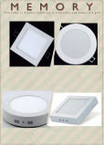 Luz de painel 85-265V de alumínio interna quadrada do diodo emissor de luz 6W 125*125mm
