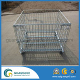 Folding Steel Wire Storage Cage com OEM