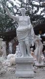 Escultura de mármore esculpida Estátua de jardim Escultura de pedra com arenito de granito (SY-X1551)