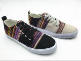 Señora vulcanizada escotada Shoes (ET-LH160308W) de la lona