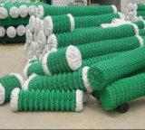 ligação Chain revestida verde de 50X50mm que cerc o engranzamento