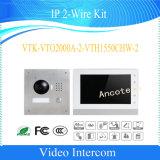 Внутренная связь Doorphone домашней обеспеченностью набора IP Dahua видео- (VTK-VTO2000A-2-VTH1550CHW-2)