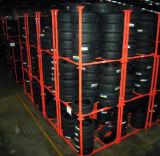 Portable resistente que dobra-se empilhando a cremalheira do pneu de carro de aço