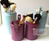 9PCS Goat Hair Cylinder Cosmetic Makeup Brush Set