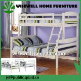 Meubles solides de chambre à coucher de bâti jumeau en bois de pin réglés (WJZ-B69)