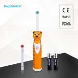 電池式の漫画デザインCe/RoHS/EMCの回転式音波の電動歯ブラシの子供の歯ブラシは承認した