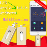 USB Flash Drive OTG Telefone móvel para Apple Mobile Phone USB Flash Drive Flat Twin Plug OTG Mobile U Disk Android Geral Print Logo OEM