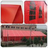 Tissu de parasol de tente de membrane de construction de bâche de protection de PVC