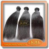 Extensões malaias do cabelo da onda reta preta natural